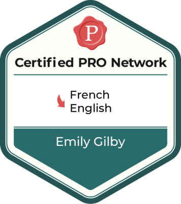 Member of the ProZ.com Certified PRO Network - English to French