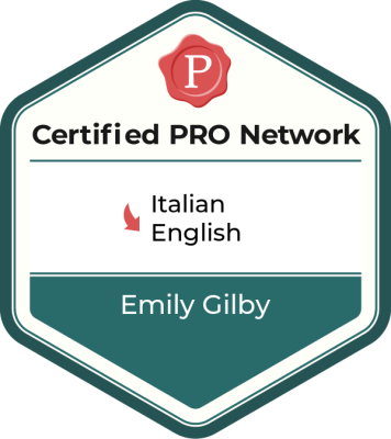 Member of the ProZ.com Certified PRO Network - Italian to English